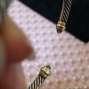 David Yurman Jewelry - David Yurman Peridot gold / silver  bracelet 5mm